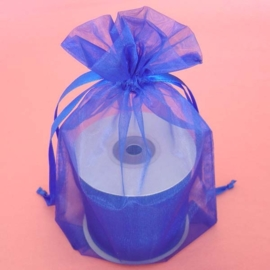 1 x luxe organza zakje, kies uit 6 verschillende maten - Royal Blue