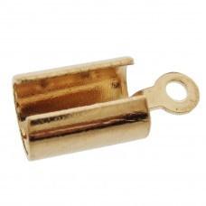 25 stuks ronde veterklemmen, rose gold 5x12mm