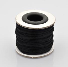 Rol met 10 meter satijn koord Nylon Marcramé koord 2mm kleur zwart