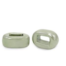 1 x C.U.S sieraden schuiver DQ Grieks keramiek 5x12mm Green slate