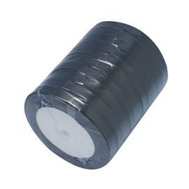 1 meter satijnlint lint 7 mm breed (smal) zwart