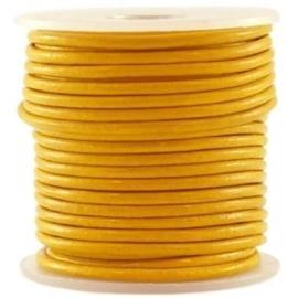 50 cm DQ Leer 3 mm Sunglow Yellow