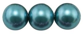 25 x prachtige glasparel kleur: Teal 10mm