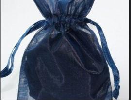1 x luxe organza zakje, kies uit 6 verschillende maten - Navy Blue