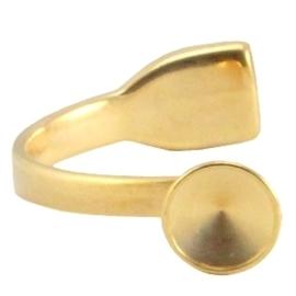 DQ metaal armband voor12mm puntsteen goudkleur (nikkelvrij)