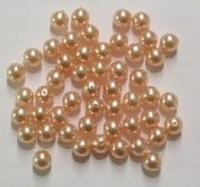 20 x  Glasparel zalm-roze 6 mm