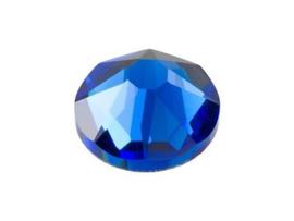 10 x Swarovski blauw plat strass steentje 5mm