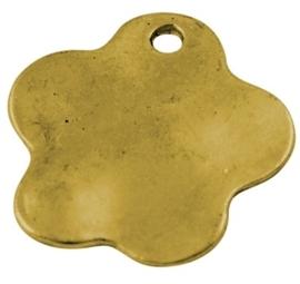 4 x Prachtige blanco Bedel diameter 23mm x 1,5mm gat: 2mm oud goud
