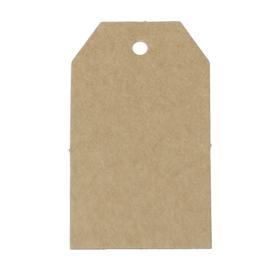 50 stuks blanco stevige bruine labels prijskaartjes voorzien van ponsgat  40 x 70mm