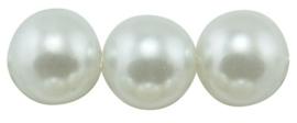 25 x prachtige glasparel kleur: Wit 10mm
