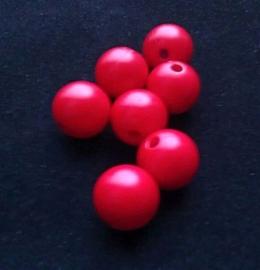 10 Stuks acryl kralen rood 12 mm