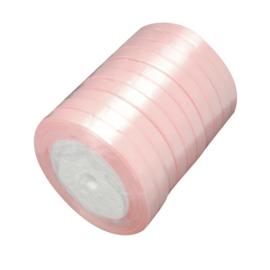 1 meter satijnlint lint 7mm breed (smal) licht roze