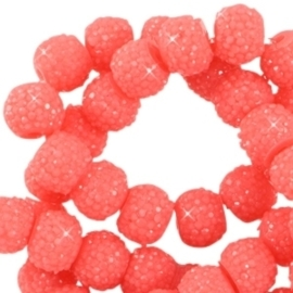 10 stuks Sparkling beads 8mm Rouge red