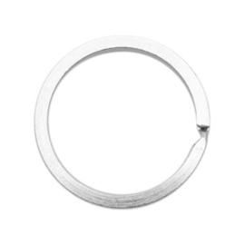 3 x Sleutelhangers ring 30mm Antiek zilver