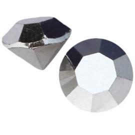2 x Preciosa Puntsteen 8 mm Crystal Labrador