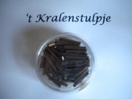 Pracht - glasstiften buisjes met zilverinslag 15mm 17 gram brons