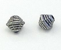 10x Metaallook kraal 9 x 10 mm