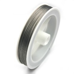 Rijgdraad RVS met coating 0,45 mm x 50 meter platinum