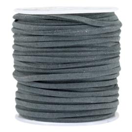 3 meter Imi suède 3mm Anthracite grey