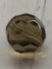 5 Stuks licht grijze glazenfacetkralen 13,5 mm gat 2mm