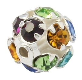 Kristal ballen 10mm mix kleur