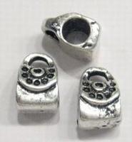 Per stuk metalen European style kraal Tasje 11 mm