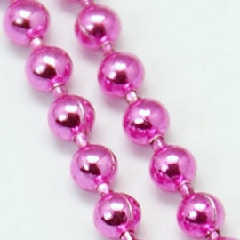 100 cm Ball Chain ketting dikte 2 mm roze (per meter verpakt)