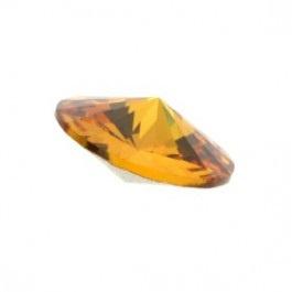5 x Puntsteen Preciosa Rivoli voor puntsteen SS29 c.a. 6mm oranje