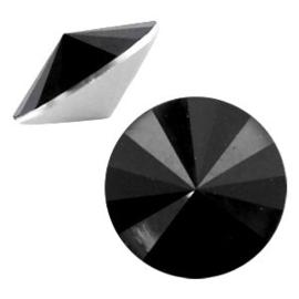 2 x Rivoli 1122 - 12 mm puntsteen Jet black