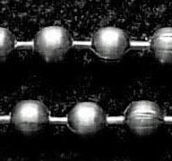50 cm Ball Chain ketting dikte 2,4 mm gunmetal donker zilver kleur