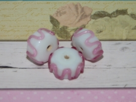 3 x High Quality Glass Hand Made Bead 024 & 026 c.a. 15 x 7mm