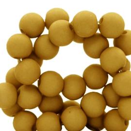 50 x 4 mm acryl kralen matt Golden brown curry