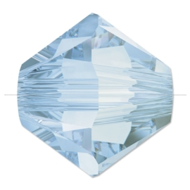 10 x Swarovski Kristal Bicone 6mm Light Blue