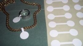 100 stuks prijslabeltjes prijskaartjes voor bijvoorbeeld ringen 15 x 50mm wit