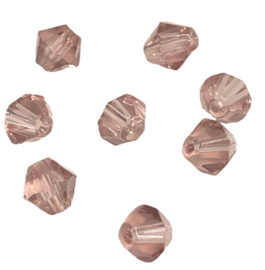20 x Pesciosa bicone kristal kralen 4 mm gat 1 mm licht aubergine