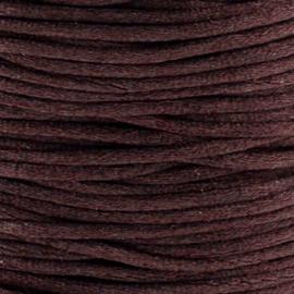 2 meter Macrame Satijndraad 1.0 mm Dark Browb
