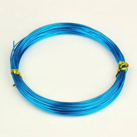 Aluminium draad 1mm dik, 10m/rol  turquoise (dodger Blue)