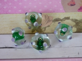 5 x High Quality Glass Hand Made Bead 060 afm. ca.  10 x 18mm