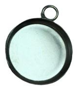 2x Aluminium Cabochon houder binnenzijde: 18 mm
