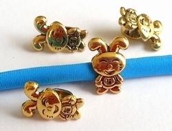 Per stuk European Jewelry bedel kraal bijtje konijntje goud metaal 14 mm
