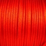2 meter satijnkoord  van ca. 2 mm dik, rood