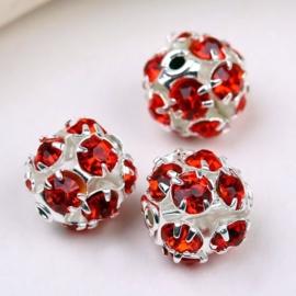 Kristal ballen 8mm rood