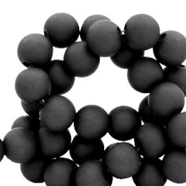50 x 4 mm acryl kralen matt Black