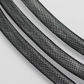 1 meter netslang of  gaaskoord 4mm zwart