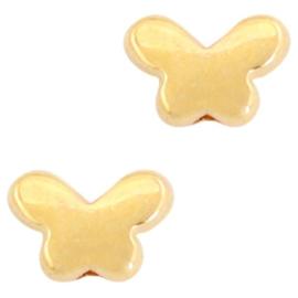 2 x Kralen DQ metaal butterfly Goud