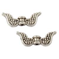 10 stuks tibetaans zilveren engelen vleugel 20 x 8 x 4mm  gat 1mm