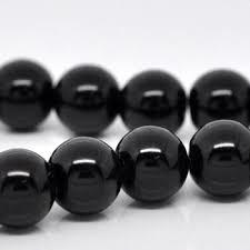 25 x prachtige glasparel kleur: Zwart 10mm