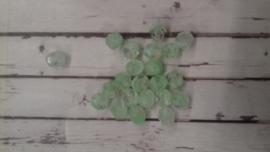 10 Stuks Glaskraal facet licht groen/transparant 6 mm