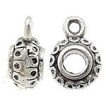 Prachtige Tibetaans zilveren bails hanger  8,80 x 12 x 5,8mm  Ø 3,5mm, het oogje is 1mm
