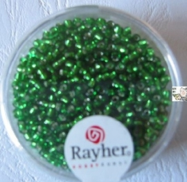 Rayher Rocailles Transparant 17 gram 2,6 mm Donker Groen